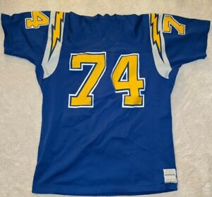 Vintage-Ron-Mix-Pro-Action-1970-039-s-NFL-San-Diego-Chargers-Football-Jersey-Large