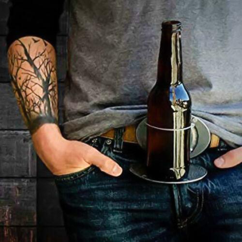 For Camping Picnic Wine Can Holder Vintage Beer Head Belt Bottle Buckle US