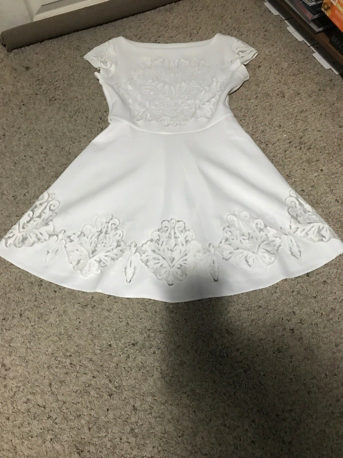 Free People Anthropologie White Lace Dress Size XP
