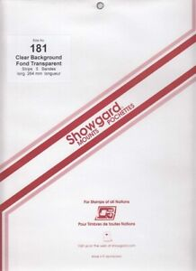 Showgard-Clear-Stamp-Mount-Strips-181-264-mm-For-US-Sheets-Calder-All-Aboard-New