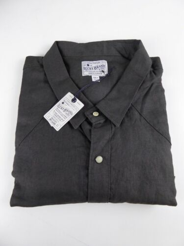 Lucky Brand 100/% French Linen Western Button Up Shirt Long Sleeve NWT $79.50