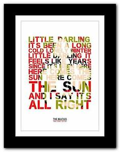 THE-BEATLES-Here-Comes-The-Sun-song-lyrics-typography-poster-art-prints