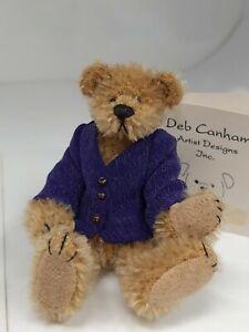 Rare 1996 Deb Canham First Mohair Collection Teddy Bear Benjamin