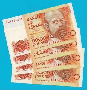 1 Billete De 200 Pesetas 1980 Leopoldo Alas Clarín. Serie 8 B. Plancha Rigurosa. Yhcl4lk6-07233540-424558631