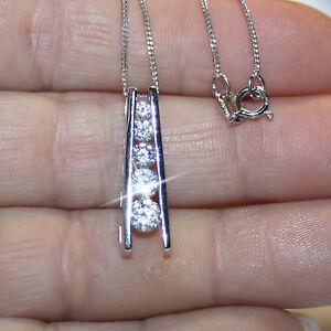 5-Stone-Diamond-Alternatives-Journey-Ladder-1-inch-long-Pendant-Necklace-14k-925