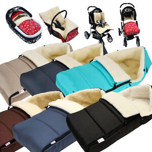 Babylux Fusssack Lammwolle 90cm Winterfusssack Kinderwagen Babyschale Babyfusssack Ebay