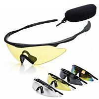 Cycling Glasses Uv400 Bike Bicycle Sports Sunglasses 4 Color W/ Glasses Box