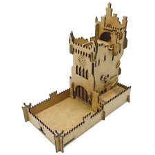 Medieval Old castle. Mechanical dice tower