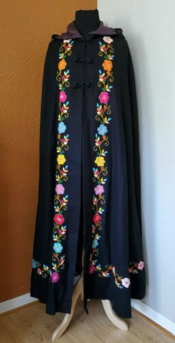 Embroidery Cape Cloak wool handmade