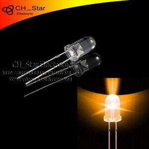 100pcs-5mm-Led-Agua-Transparente-ambar-naranja-diodos-emisores-de-luz-redondo-superior