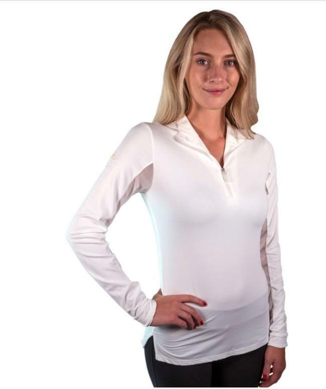 Kastel wit wit Trim Icafil Quarter ZIP Shirt