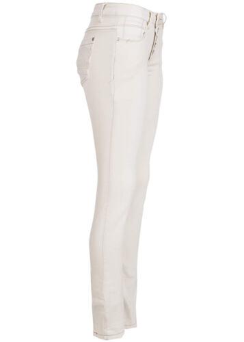 50/% OFF B15030628 Damen Madonna Hose Jeans asym Knopfleiste Crash Effekt beige