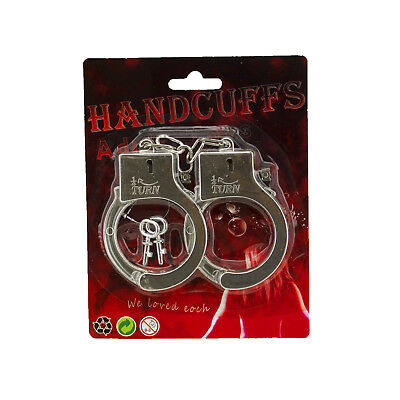 Plastic Toy Handcuffs with Key Prisoner Sheriff Cop Halloween Costume Props