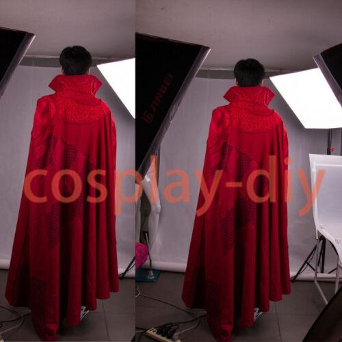 2016 Marvel Movie Doctor Strange Cloak Cosplay Dr Steve  Full Set Robe Costumes