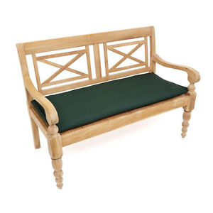 polster kissen auflage f r bank 2 sitzer 110 cm waschbar wasserabweisend gr n ebay. Black Bedroom Furniture Sets. Home Design Ideas