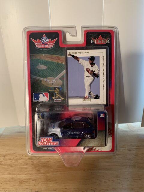 WHITE ROSE COLLECT MLB 2001 FLEER BERNIE WILLIAMS NY YANKEES Card & Die Car NOS