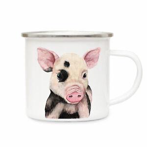 Sinnvoll Emailletasse Schweinchen Campingtasse Schweinetasse Becher Emaillebecher Eb225 Geschenk- & Werbeartikel