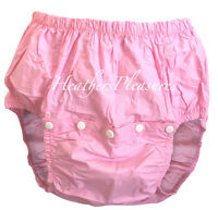 Adult Waterproof Noisy Plastic Pant Diaper Cover Nappy Pink Baby ABDL M L XL XXL