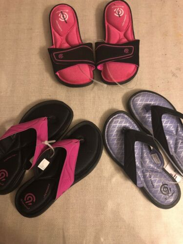 Girls Champions Memory Foam Sandals NWOT