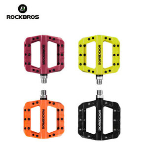 ROCKBROS MTB Road Bike Bicycle Bearing Widen Cyan Pedals Nylon Pedals a Pair