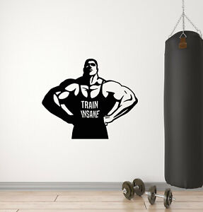 Vinyl Wall Decal Muscled Bodybuilding Gym Athlete Sport Stickers Mural G508 Ebay