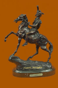The-Scalp-Bronze-Sculpture-Frederic-Remington-Finest-USA-Lost-Wax-Casting-Decor