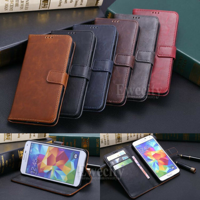 Luxury Flip Wallet Leather Stand Set Case Phone Cover For Samsung GALAXY S5 SV