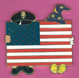 Disney-Fantasy-pin-SORCERER-amp-POLICEMAN-amp-UNITED-STATES-FLAG-Pin-9-11-TRIBUTE