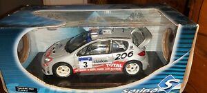 SOLIDO-1-18-PEUGEOT-206-WRC-3-PANIZZI-RALLYE-DE-FRANCE-NEUF-EN-BOITE