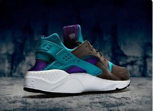save off 60e28 994a4 Image is loading Size-Nike-Air-Huarache-Purple-And-Teal-Pack-
