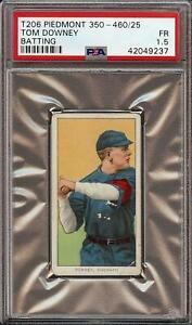 1909-11 T206 Tom Downey Batting Piedmont 350-460 Cincinnati PSA 1.5