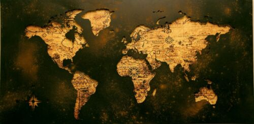 World Map Art Picture Poster Photo Print 8WLD