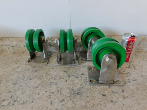 """300# Capacity 4 NEW Albion Stainless Steel Fixed Plate Caster Wheel 4/"""" Dia x 2/"""""""