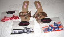 Sassy Suzie Mini Wedge Sandal/Shoes W/Velcro-ed Changeable Decorative Tops Sz.8M