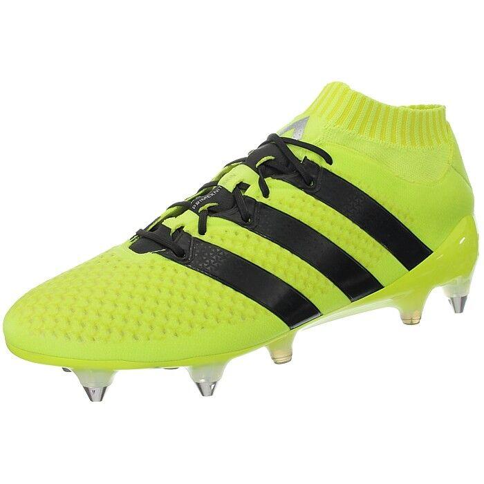 Adidas ACE 16.1 Primeknit Sg Amarillo Negro para Hombre botas Botines De Fútbol Soccer nuevo