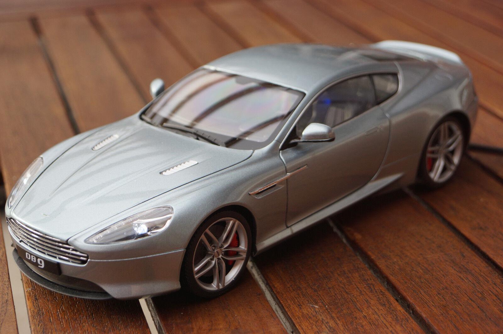 Aston Martin db9 avec LED-éclairage (xénon) dans 1 18 tuning welly Argent