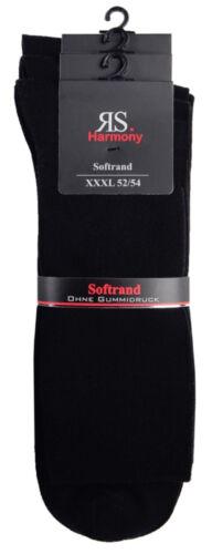 52-54 noir sans élastique/' 5 Paire /'rs-30139 Hommes Grandes Tailles Chaussettes XXXL
