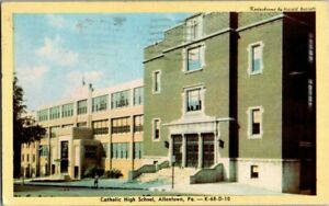 1950-ALLENTOWN-PA-CATHOLIC-HIGH-SCHOOL-POSTCARD-T23
