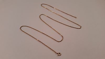 "10K Yellow Gold 18.75"" Rolo Chain Necklace 0.6 mm Springring Clasp FREE SHIP"