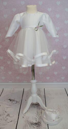 Taufkleid Festkleid Taufgewand Kleid Taufe Hochzeit  Babykleid Taufset Nr.0a24