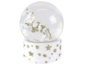 Gisela-Graham-Fantasy-Animals-Unicorn-Snow-Dome-Christmas-Home-Decoration
