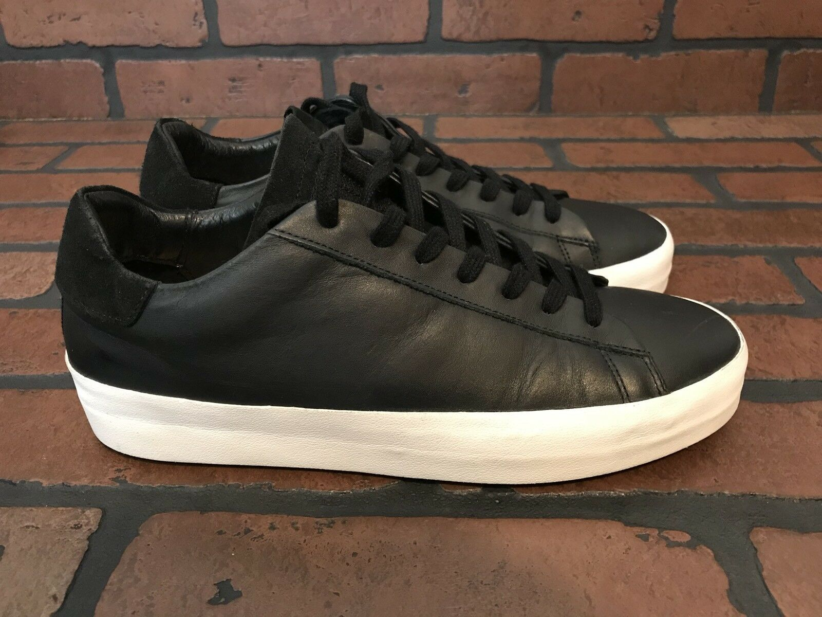AllSaints Ladies Sol Low Sneakers Black Leather Size 6.5 ()
