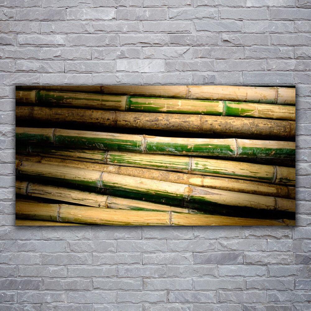 Glasbilder Wandbild Druck auf Glas 120x60 Bambus Pflanzen