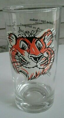 4-1960/'s ESSO EXXON Put A Tiger In Your Tank  drinking glasses 8 languages