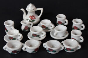 18-piece-Miniature-Doll-House-Accesories-Porcelain-Tea-Set-Teapot-Toys-Cups-Rose