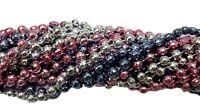 36 Baby Shower Mardi Gras Beads Necklaces Pink Silver Lt Blue 3 Doz Disco