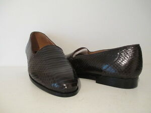Giorgio-Brutini-Mens-Faulkner-Snakeskin-Slip-On-Casua-Dress-Shoe-Brown-7-5-11