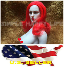 1/6 European American Female Head sculpt Red hair for Hot Toys Phicen kumik❶USA❶