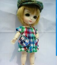 Lati Yellow Doll Outfit Colourful checks dress