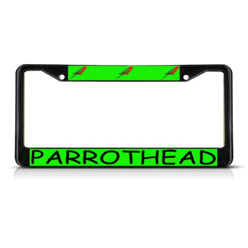 PARROTHEAD Black Metal License Plate Frame Tag Holder
